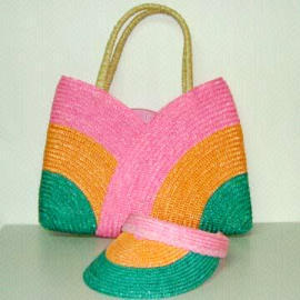 Corn huskjutestraw handbags,shoulder bags