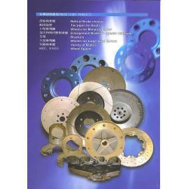 brake discs, drums, rotors, pumps, brackets, flywheels etc.