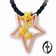 FALLING STARS - 14K ROSE GOLD PENDANT (Падающие звезды - 14K ROSE золотой кулон)