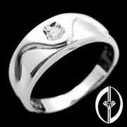 I DO I DO I DO - 0.1Ct. DIAMOND & 18K WHITE GOLD RING ( FOR MAN )