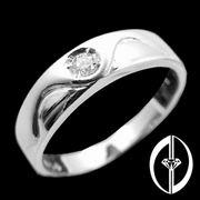 I DO I DO I DO - 0.1Ct. DIAMOND & 18K WHITE GOLD RING ( FOR LADY ) (Я Do I Do I Do - 0.1Ct. DIAMOND & WHITE 18K Золотое кольцо (для дам))