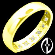 EVER EARNING - 14K GOLD & 9 DIAMONDS RING