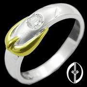 LOVE KNOT - 0.1Ct. DIAMOND RING 14K WHITE GOLD