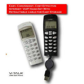 Retractable USB Phone with 128M Flash Memory