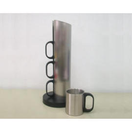 Stainless Steel Cup, Stainless Steel Auto Mug Tableware, Houseware, Household