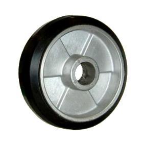 Moldon rubber on aluminum center wheels