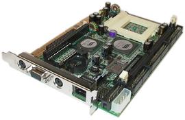 PISA bus Half-size CPU Card supports socket 370 VIA C3 CPU & DDR memory