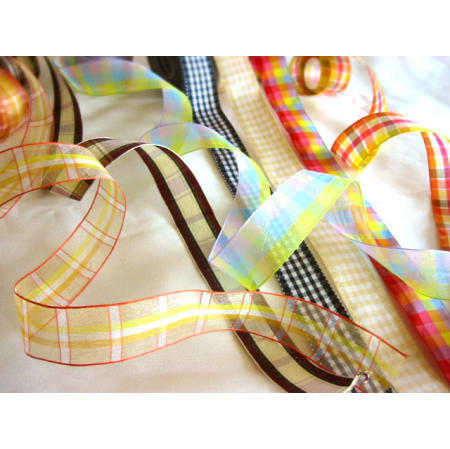plaid, checked ribbon (плед, проверили лента)