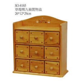 WOODEN BOX WITH 9 DRAWER
