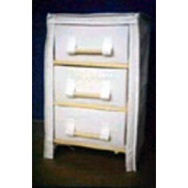 WOODEN CABINET WITH 3 DRAWER