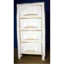 WOODEN CABINET WITH 4 DRAWER