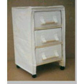 WOODEN CABINET WITH 3 DRAWER & CASTER (С деревянный корпус 3 DRAWER & CASTER)