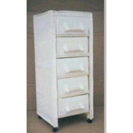 WOODEN CABINET WITH 5 DRAWER & CASTER