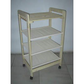 WOODEN 3 STORYS RACK WITH CASTER (Деревянные 3 STORYS стойки с CASTER)