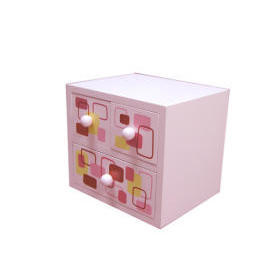 M.D.F 2 STORYBOX WITH DRAWER