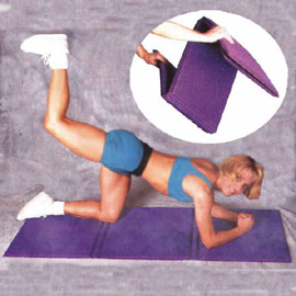 6-part Folding Fitness Mat / Sports Mat