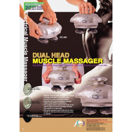 Electrical Dual Heads Massager, Including:three sets of interchangeable massager