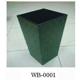 LEATHER HOUESWARE WASTEBIN