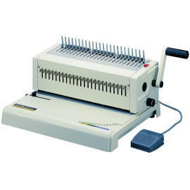 Electrical plastic punch bind machine