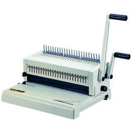Plastic comb punch bind machine