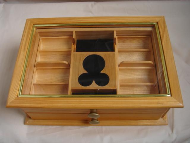 drawer style wooden chip case for 500pcs (ящик стиле деревянного корпуса чипов для 500pcs)