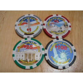 America The Beautiful poker chip (Америка чипа Beautiful покер)