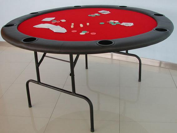 round poker folding table
