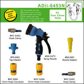 12mm 6-pattern spray nozzle set