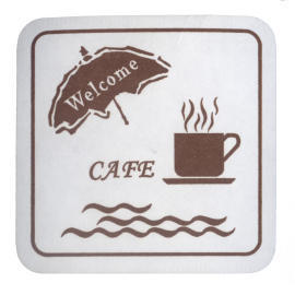 Restaurant Coaster_Square_1 Color Print (Brown) (Ресторан Coaster_Square_1 цвета печати (коричневый))