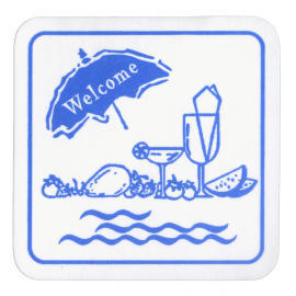 Restaurant Coaster_Square_1 Color Print (Blue) (Ресторан Coaster_Square_1 цвета печати (синий))
