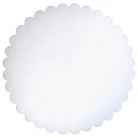 Plain Coaster_Round with Scalloped Edge (32 Sides) (Равнина Coaster_Round с Scalloped Edge (32 сторон))