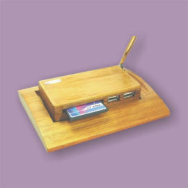 Bamboo Card Reader+ USB hub+Stationery set