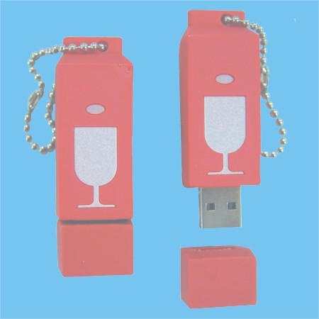 3D Rubber USB Flash Drive (3D Резиновая USB Flash Drive)