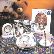 8919-Set Teddy Bear Porcelain Telephone Gift Set (8919-Set Teddy Bear фарфора телефон Gift Set)