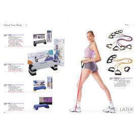 AEROBIC STEP, RUBBER PULL EXERCISER (Aerobic Step, РЕЗИНЫ PULL тренажере)