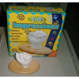 3D impression with wooden base