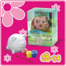 Lil` Flabs Coin Bank - Chompy d` Pig