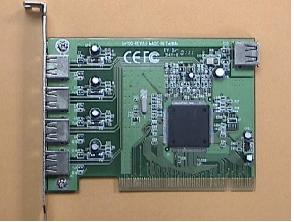 USB 2.0v PCI card 4+1port