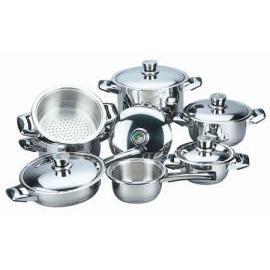 12pcs stainless steel cookware set (12pcs посуда из нержавеющей стали,)