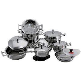 S/S 18/10 16PCS COOKWARE SET (S / S 18/10 16pcs посуда SET)