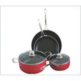 6pcs Aluminum non-stick cookware set (6pcs алюминиевый антипригарным покрытием набор)
