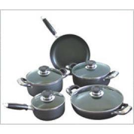 9pcs aluminum cookware set (9шт алюминиевая посуда набор)