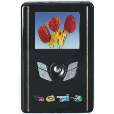10-in-1 MP4 player with 2.5 inch HDD (20~80GB)