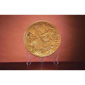 Life prolonging--The gold-leaf round plate
