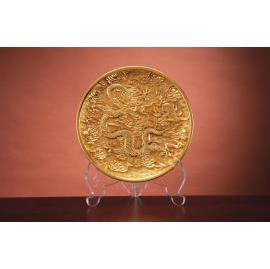 Extreme wealth and elegance-The gold-leaf round plate (Экстремальный богатство и элегантность-золото-листовой пластинки круглой)