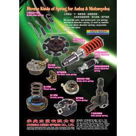 Brake Shoe Spring, Clutch Spring, Shock absorber spring, Return Spring, Car door