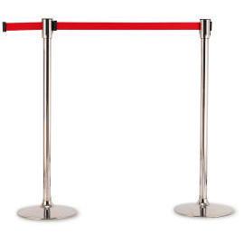 Crowd Control Stand with retractable belt (Contrôle de la foule debout, avec une ceinture escamotable)