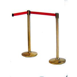 Crowd Control Stand with Retractable belt (Brass) (Contrôle de la foule debout, avec une ceinture escamotable (Brass))