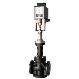Thermal oil electric proportional three-way control valve