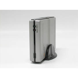 External 3.5`` HDD Aluminum case Hi-Speed USB2.0+1394a